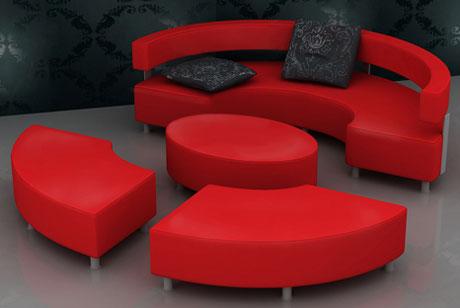 Sofa Rund Oval